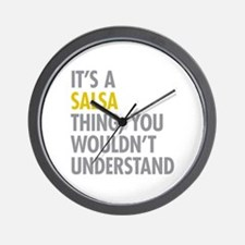 Its A Salsa Thing Wall Clock