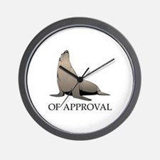 Seal Of Approval Wall Clock