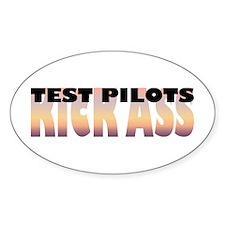 Test Pilots Kick Ass Oval Decal
