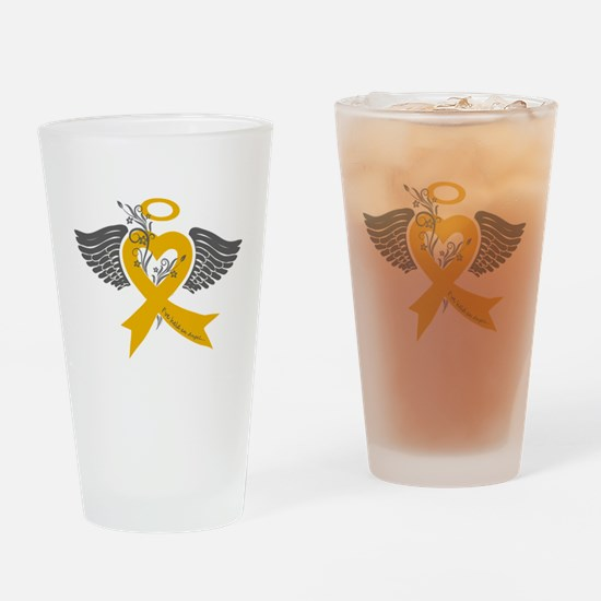 Cute Childhood cancer Drinking Glass