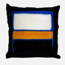ROTHKO blue orange blank Throw Pillow