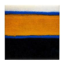 ROTHKO blue orange blank Tile Coaster