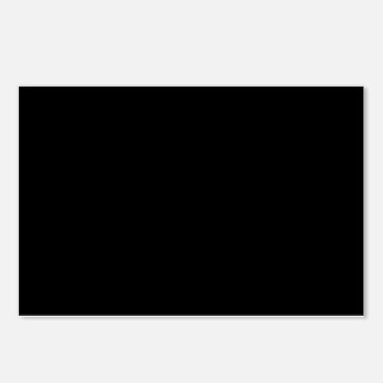 Solid Black Color Postcards (Package of 8)