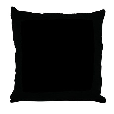 Plain Black Throw Pillow : Solid Black Color Throw Pillow by BeautifulBed
