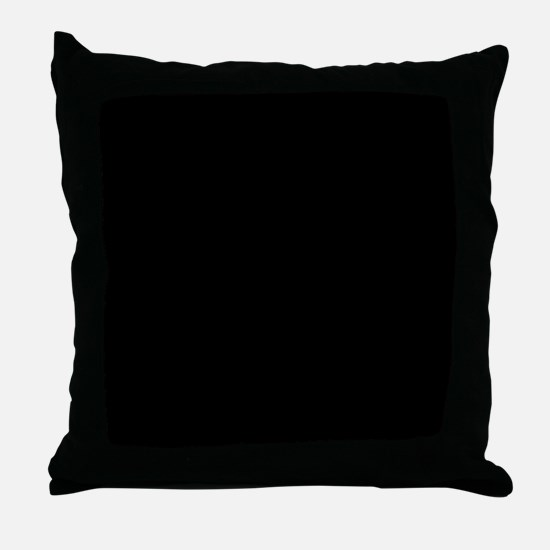 Solid Black Color Throw Pillow