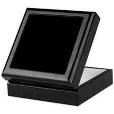 Solid Black Color Keepsake Box