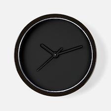 Solid Black Color Wall Clock