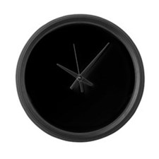 Solid Black Color Large Wall Clock