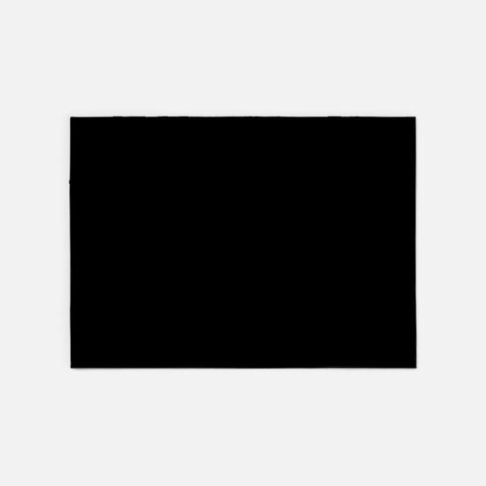 Solid Black Color 5'x7'Area Rug
