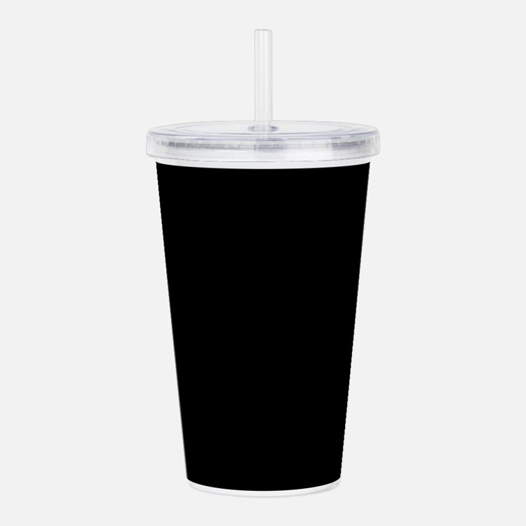 Solid Black Color Acrylic Double-wall Tumbler