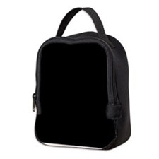Solid Black Color Neoprene Lunch Bag