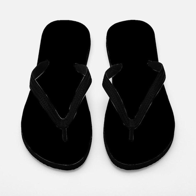 Solid Black Color Flip Flops