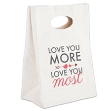 Love You Most Canvas Lunch Tote