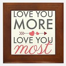 Love You Most Framed Tile