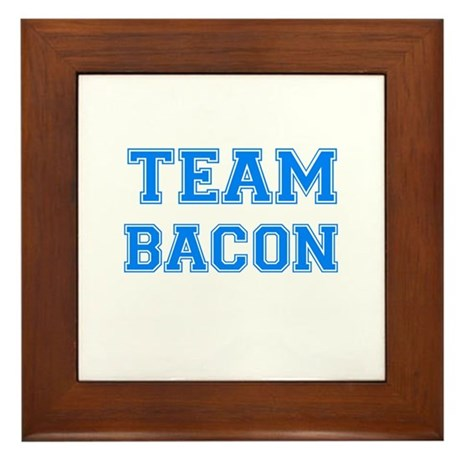 TEAM BACON Framed Tile