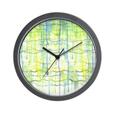 Electric Rain Abstract Wall Clock