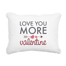 Love You Valentine Rectangular Canvas Pillow