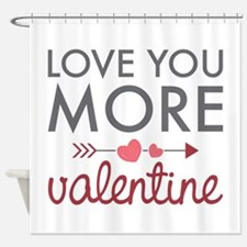 Love You Valentine Shower Curtain