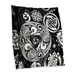 Celtic Clockwork Burlap Throw Pillow