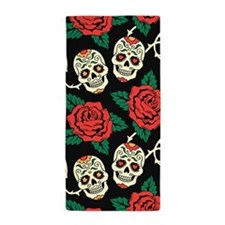 Skulls and Roses Beach Towel