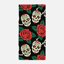 Skulls and Roses Beach Towel
