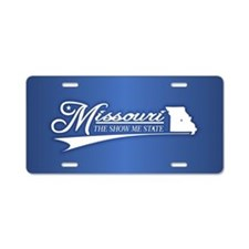 Missouri State of Mine Aluminum License Plate
