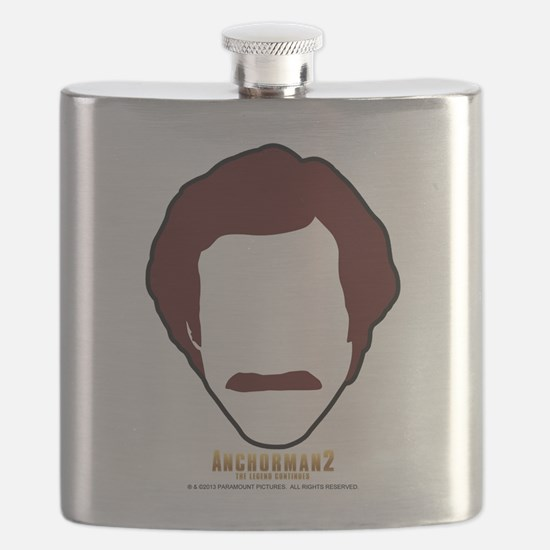 Ron Burgundy Face Flask