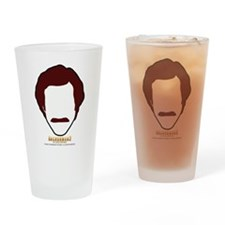 Ron Burgundy Face Drinking Glass
