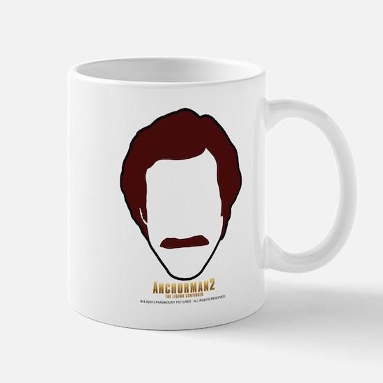 Ron Burgundy Face Mugs