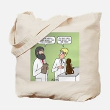Snowman of the Apes Tote Bag