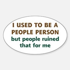 People Person Humor Decal