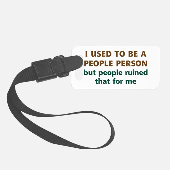 People Person Humor Luggage Tag