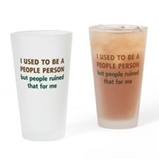 People Person Humor Drinking Glass