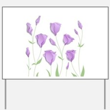 Lilac Flowers Yard Sign
