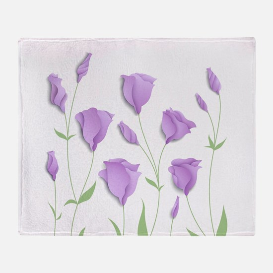 Lilac Flowers Throw Blanket