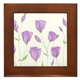 Purple flower Framed Tiles