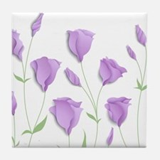 Lilac Flowers Tile Coaster