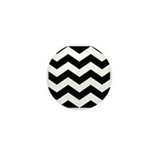 Black And White Chevron Mini Button (10 pack)