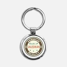 Salesman Vintage Round Keychain