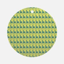 Cute Whimsy Deer Pattern Ornament (Round)