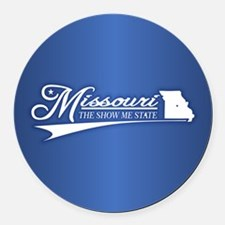 Missouri State of Mine Round Car Magnet