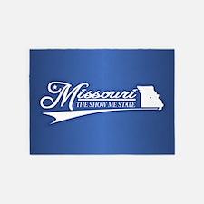 Missouri State of Mine 5'x7'Area Rug