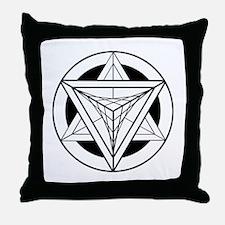 Merkabah Star Tetrahedron Throw Pillow