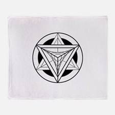 Merkabah Star Tetrahedron Throw Blanket