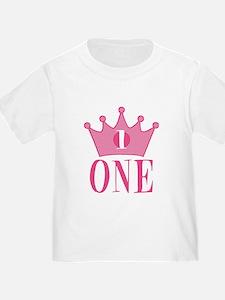 One - 1st Birthday - Princess Birthday Party T-Shi