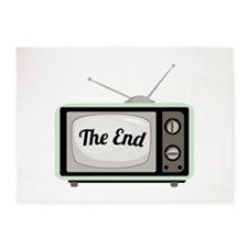 The End TV 5'x7'Area Rug