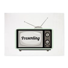Presenting TV 5'x7'Area Rug