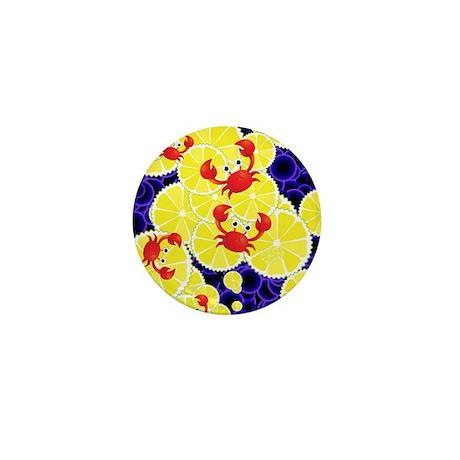 Crabs on lemon mini button by admin cp73261161 for Lemon button
