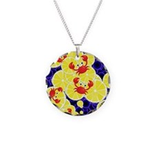 Crabs on lemon Necklace