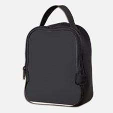 Gray Solid Color Neoprene Lunch Bag